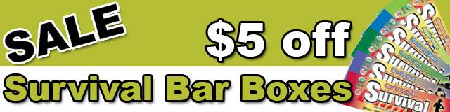 Survival Bar 5 dollars off