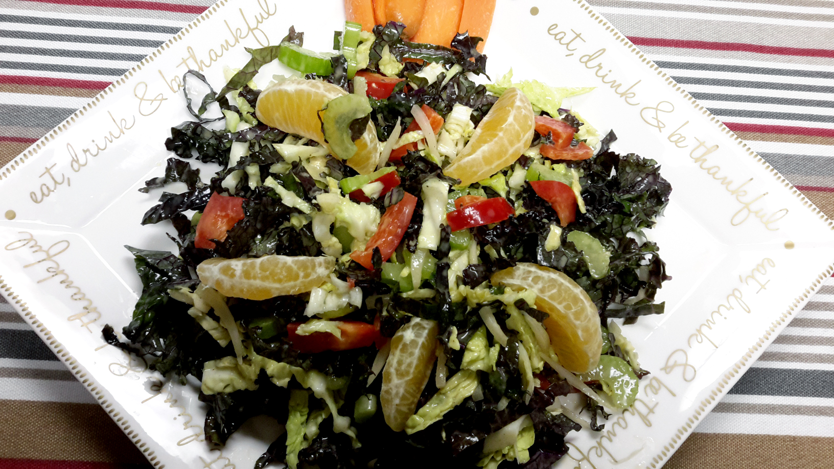 Orange Kale Salad